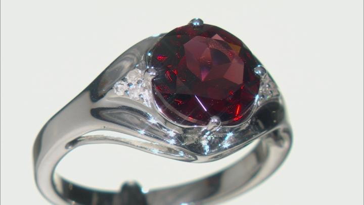 Red Garnet Rhodium Over Sterling Silver Ring 2.93ctw