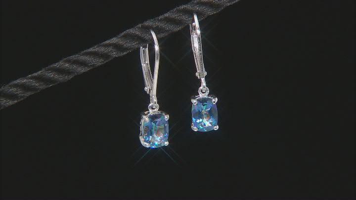 Blue Petalite Rhodium Over Sterling Silver Earrings 1.27ctw