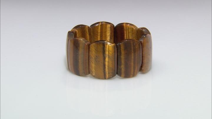 Brown Golden Tigers Eye Stretch Bracelet