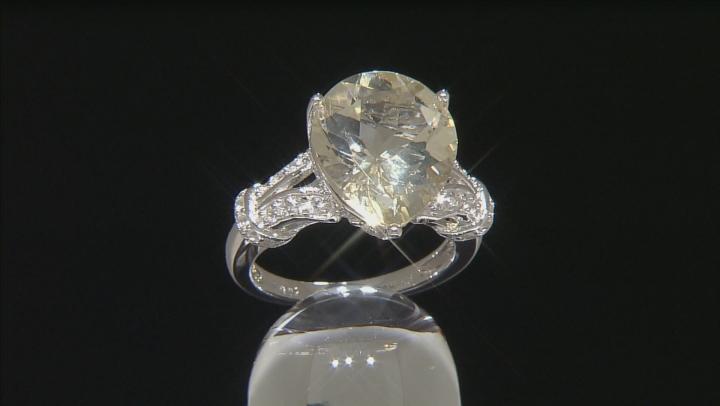 Yellow Labradorite Sterling Silver Ring 5.08ctw
