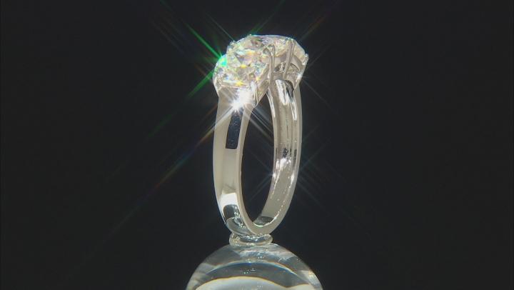 Fabulite Strontium Titanate Rhodium Over Sterling Silver Ring 4.21ctw