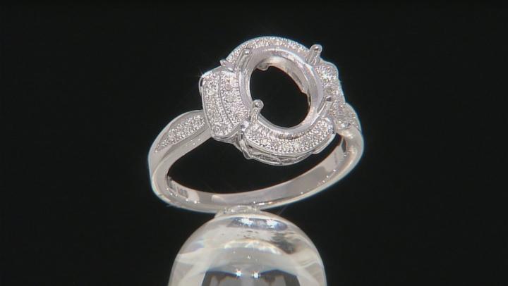 Diamond Silver Semi-Mount Ring .15ctw