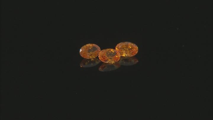 Spessartine Garnet 6.5x4.5mm Set of 3 Oval 2.25ctw
