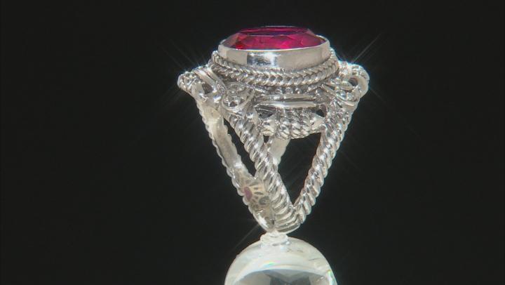 Raspberry Rouge™ Mystic Quartz® Silver Ring 5.00ctw
