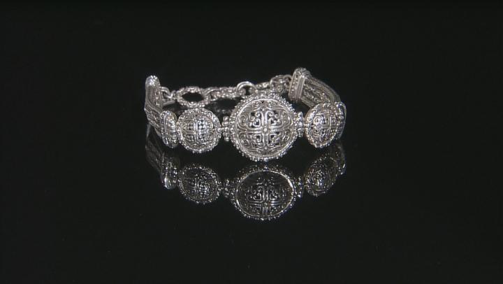 Sterling Silver Filigree Medallion Bracelet