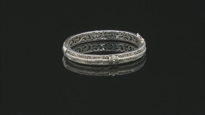 White One Diamond Accent Silver Bracelet .03ctw