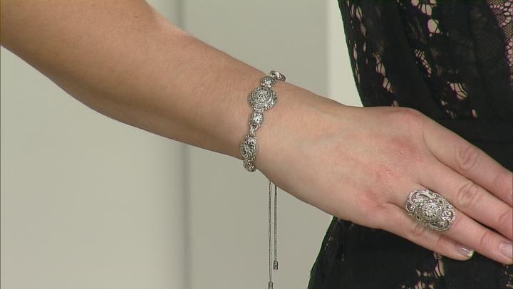 White Diamond Adjustable Bracelet .15ctw