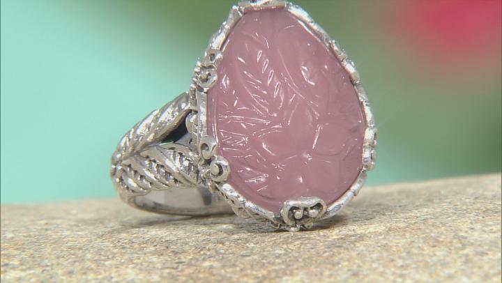 Pink Guava Quartz Silver Ring
