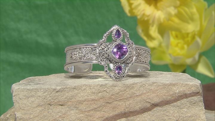 Flambe Pink™ Mystic Topaz® Silver Cuff Bracelet 5.10ctw