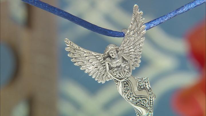 Sterling Silver Angel Pendant-Brooch