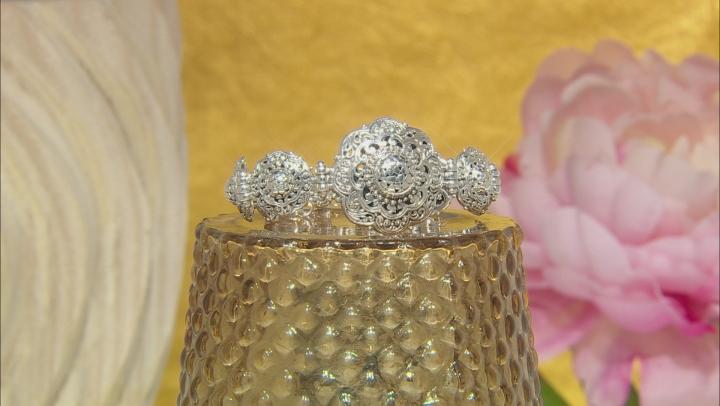 Sterling Silver Scalloped Watermark Bracelet