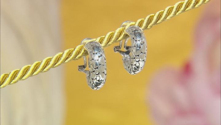 Sterling Silver J-Hoop Earrings