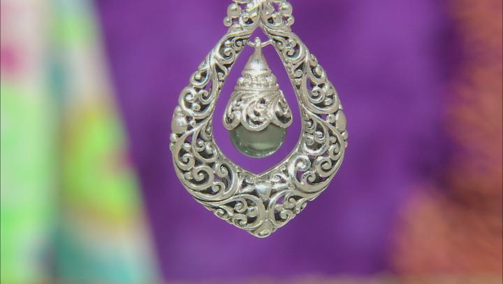 Black Saltwater Pearl Sterling Silver Pendant