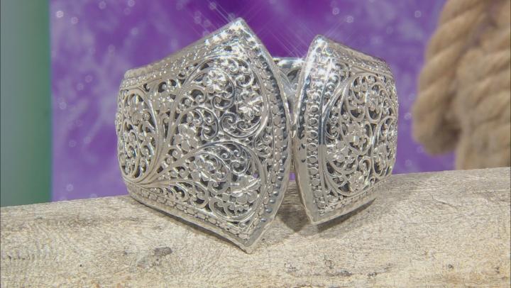 Sterling Silver Floral Filigree Bracelet