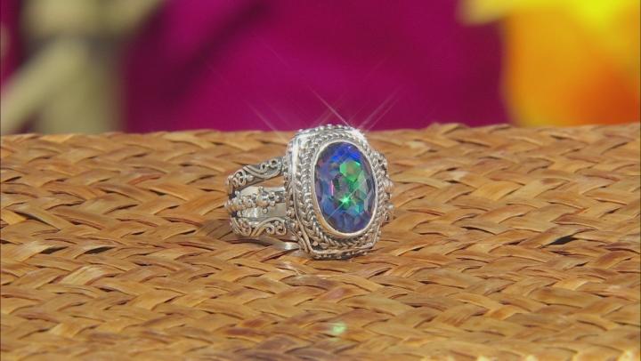 Purple Roman Nights™ Mystic Quartz® Silver Ring 2.41ctw