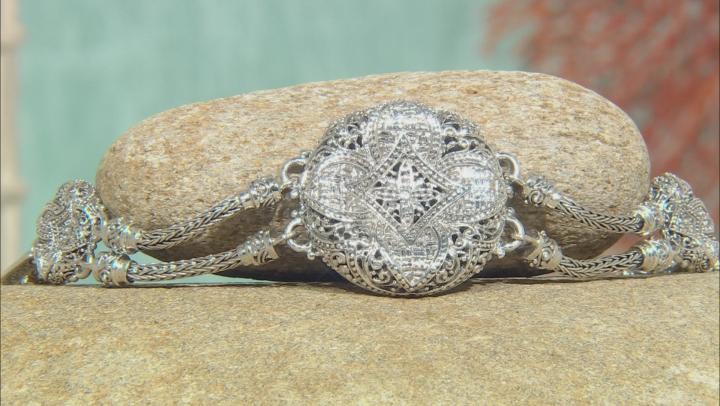 Sterling Silver Concave Flower Bracelet