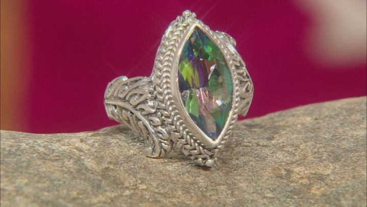 Green Odyssey Calypso™ Mystic Quartz® Silver Ring 3.03ctw