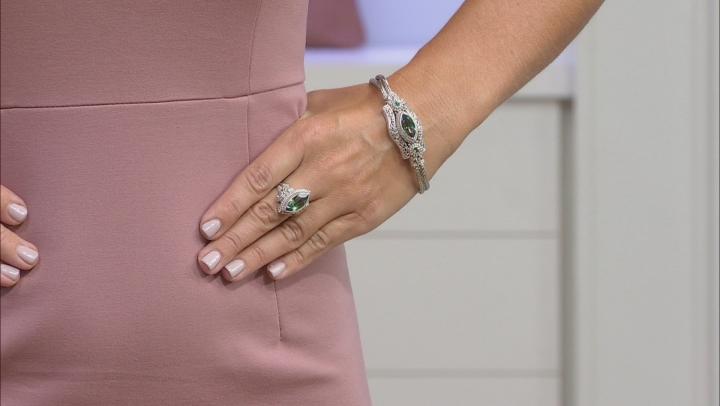 Green Odyssey Calypso™ Mystic Quartz®, Silver Bracelet 3.63ctw