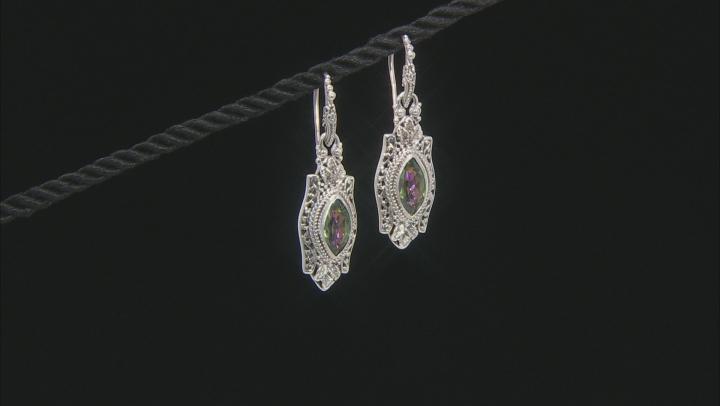 Green Odyssey Calypso™ Mystic Quartz® Silver Earrings 2.74ctw