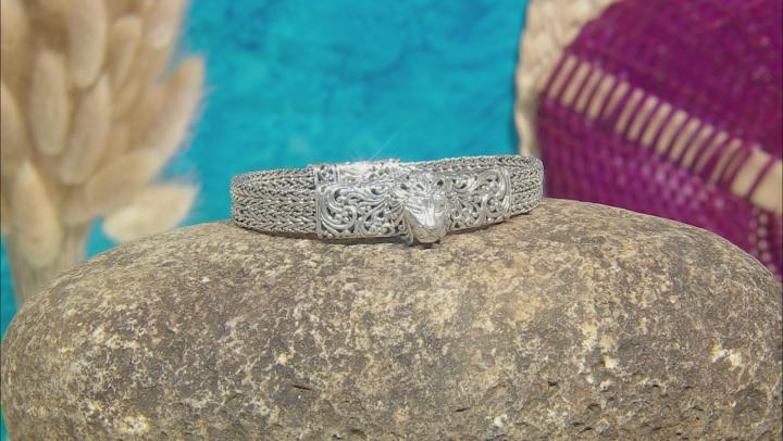Sterling Silver Lion Head Bracelet