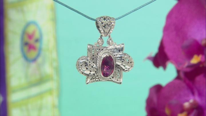 Pink Elegant Rose™ Mystic Quartz® Silver Pendant 3.70ctw