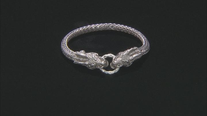 Sterling Silver Dragon Bangle Bracelet