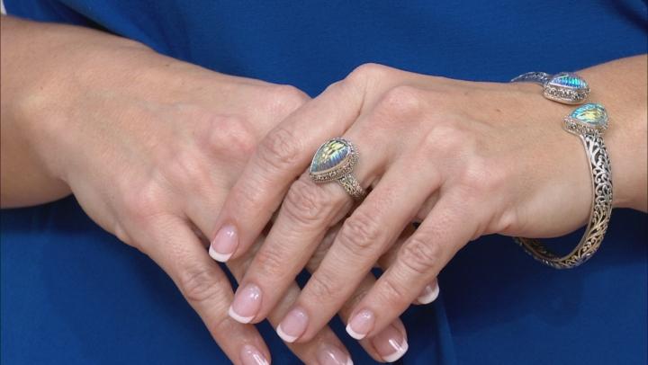 Multicolor Zero Saturn™ Mystic Quartz® Silver Ring