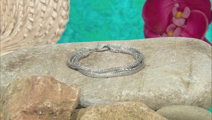 Sterling Silver Twisted Multi-Strand Bracelet