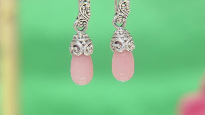 Pink Guava Quartz Sterling Silver Earrings