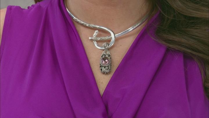 Always True Rose™ Mystic Quartz® Silver Pendant 3.83ctw