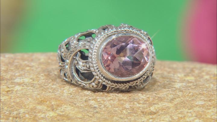 Always True Rose™ Mystic Quartz® Silver Ring 3.83ctw