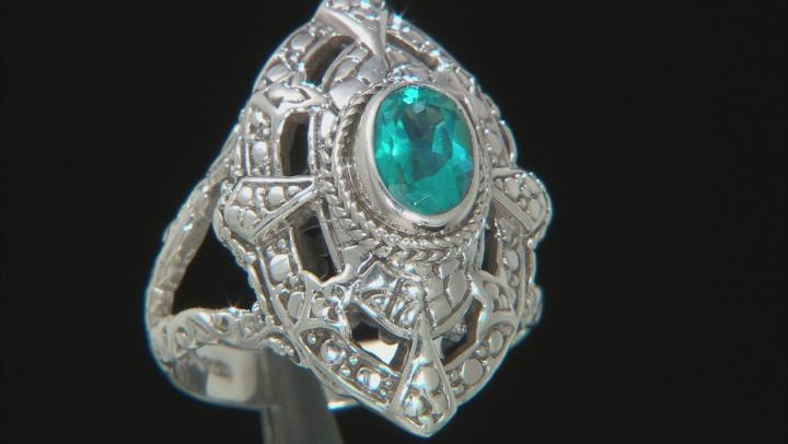 Blue Bali Breeze™ Topaz Silver Ring 0.95ctw