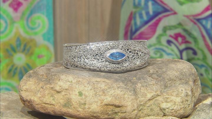 Royal Bali Blue™ Topaz Silver Cuff Bracelet 3.06ctw