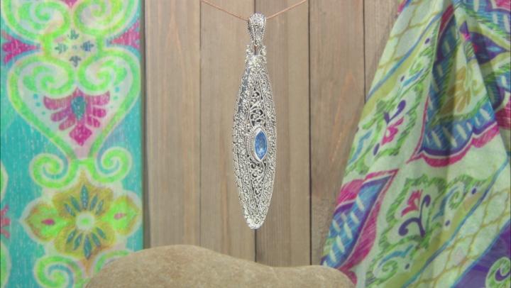 Royal Bali Blue™ Topaz Silver Pendant 3.06ctw
