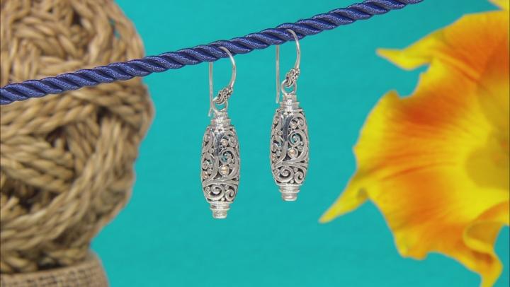 Sterling Silver & 18k Gold Accent Dangle Earrings
