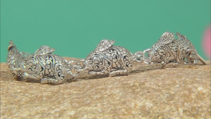 Sterling Silver Bunny Rabbit Bracelet