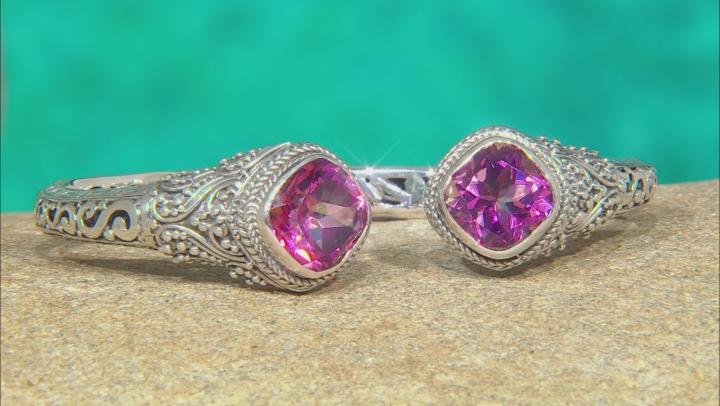 Extreme Pink™ Quartz Silver Bracelet 11.06ctw