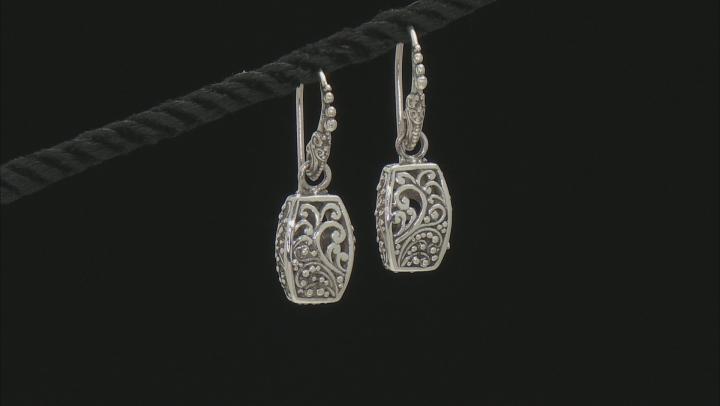 Oxidized Sterling Silver Filigree Earrings