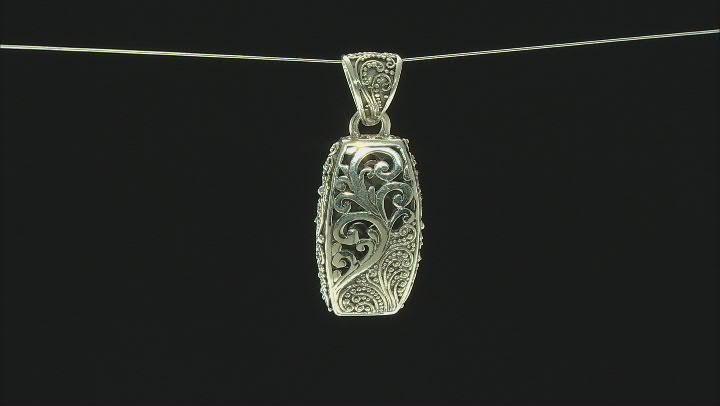 Oxidized Sterling Silver Filigree Pendant