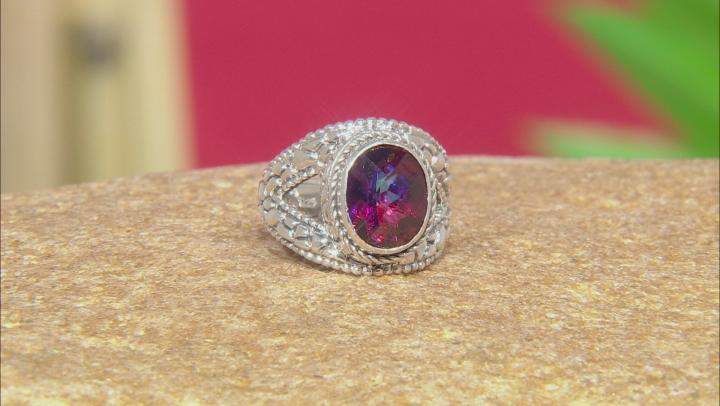 Purple Xanadu™ Mystic Quartz® Silver Ring 2.98ctw