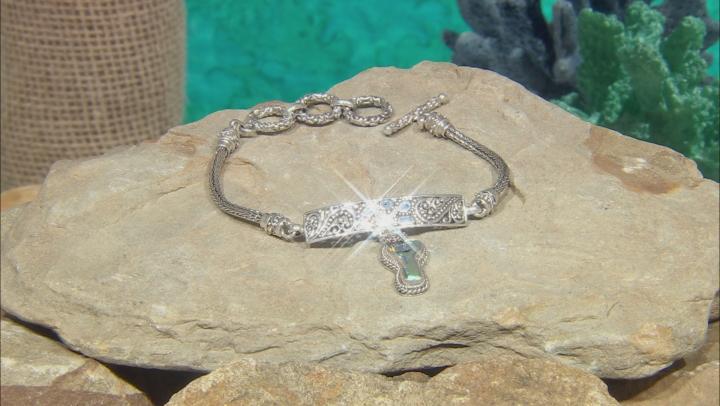 Zero Saturn™ Mystic Quartz® Key Silver Bracelet 0.97ctw