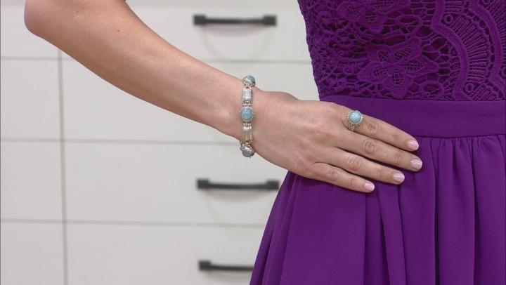 Blue Aquamarine Silver Bracelet