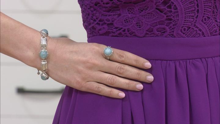 Blue Aquamarine Silver Ring