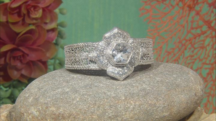 White Quartz Silver Bracelet 9.35ctw