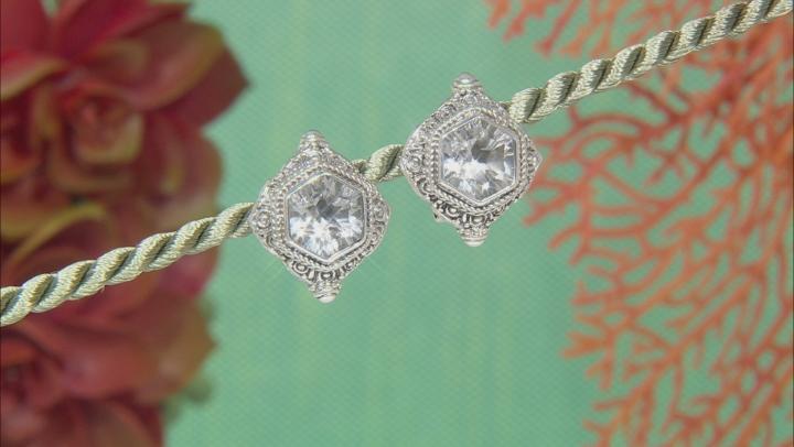 White Quartz Silver Earrings 8.16ctw