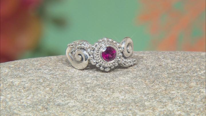 Purple Raspberry Rhodolite Garnet Silver Ring 0.64ct