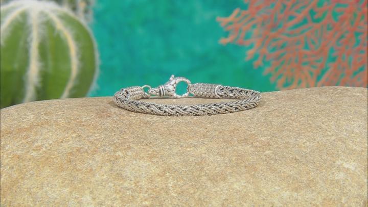 Sterling Silver Woven Bali Chain Bracelet