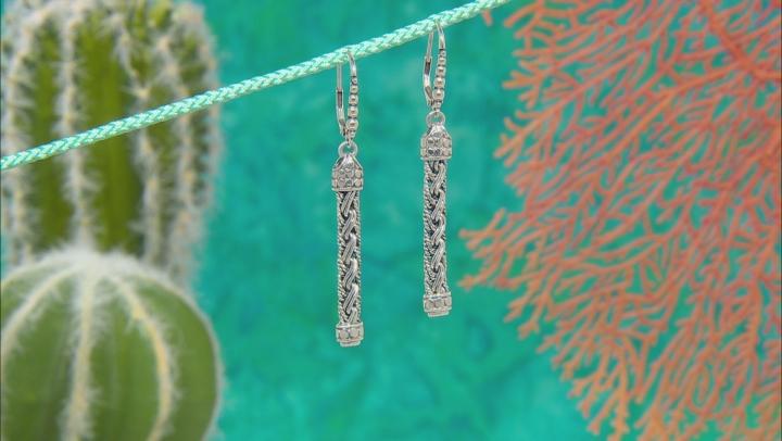 Sterling Silver Woven Bali Chain Earrings