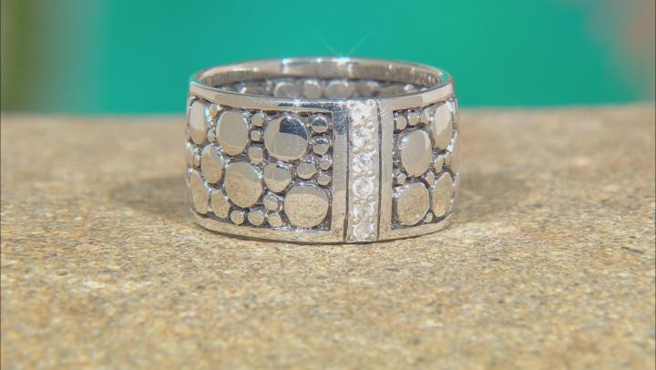White Zircon Silver Ring 0.24ctw