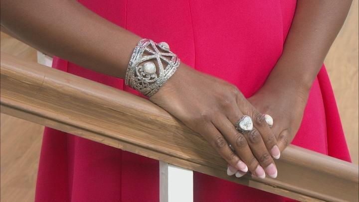 White Moonstone Silver Bracelet 10.00ctw